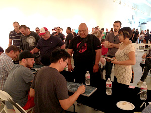 Simon Lee Spiderzero Gallery Nucleus Book Signing Pacific Rim Art book Artists Panel
